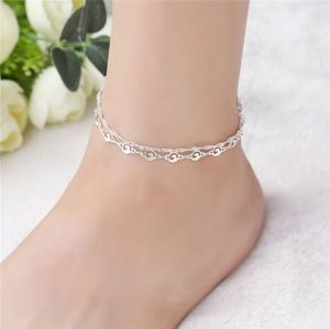 Jewelry - ADORABLE DOUBLE STRAND SILVER WAVE ANKLET/BRACELET